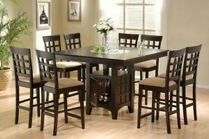 5 or 9 Piece Counter Height Dining Table-Free Delivery in EDM