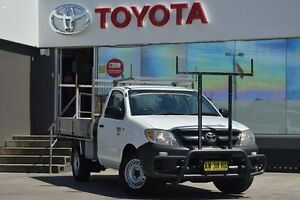 2008 Toyota Hilux TGN16R 07 Upgrade Workmate White 5 Speed Manual Cab Chassis Old Guildford Fairfield Area Preview