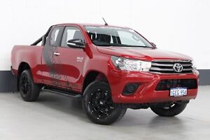 2015 Toyota Hilux GUN126R SR (4x4) Red 6 Speed Manual X Cab Utility Bentley Canning Area Preview