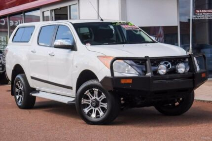 2011 Mazda BT-50 UP0YF1 XTR 4x2 Hi-Rider White 6 Speed Sports Automatic Utility Glendalough Stirling Area Preview