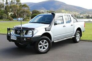 2012 Nissan Navara D40 S6 MY12 ST Silver 6 Speed Manual Utility Invermay Launceston Area Preview