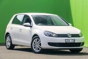 2012 Volkswagen Golf VI MY12.5 118TSI DSG Comfortline White 7 Speed Sports Automatic Dual Clutch Ringwood East Maroondah Area Preview