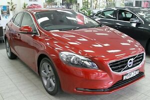 2015 Volvo V40 M MY16 D4 Luxury Flamenco Red 8 Speed Automatic Hatchback Lindfield Ku-ring-gai Area Preview