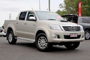 2013 Toyota Hilux KUN26R MY12 SR5 Double Cab Silky Gold 4 Speed Automatic Utility Monkland Gympie Area Preview