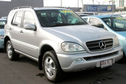2001 Mercedes-Benz ML320 W163 MY2002 Classic Silver 5 Speed Auto Seq Sportshift Wagon Southport Gold Coast City Preview