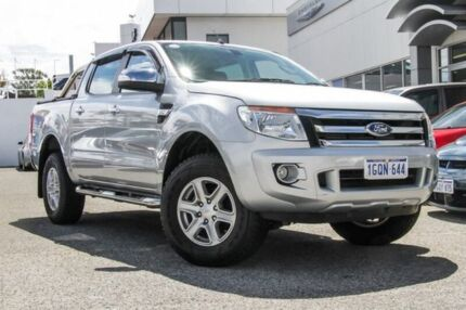 2014 Ford Ranger PX XLT Double Cab Silver 6 Speed Sports Automatic Utility Myaree Melville Area Preview