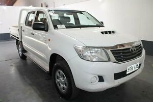 2012 Toyota Hilux KUN26R MY12 SR (4x4) White 5 Speed Manual Dual Cab Pick-up Pennington Charles Sturt Area Preview