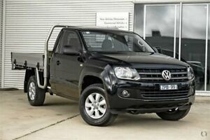 2012 Volkswagen Amarok 2H MY12.5 TDI400 Black Manual Cab Chassis Mitchell Park Ballarat City Preview
