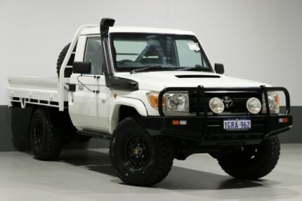 2012 Toyota Landcruiser VDJ79R MY12 Update Workmate (4x4) White 5 Speed Manual Cab Chassis Bentley Canning Area Preview