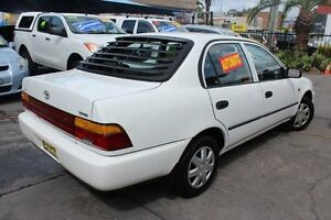 1998 Toyota Corolla AE101R CSi White 4 Speed Automatic Sedan Hamilton Newcastle Area Preview
