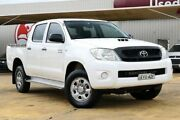 2009 Toyota Hilux KUN26R MY09 SR White 4 Speed Automatic Utility Lansvale Liverpool Area Preview