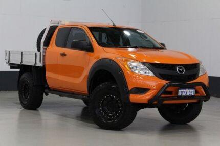 2012 Mazda BT-50 XT (4x4) Orange 6 Speed Manual Freestyle C/Chas