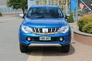 2016 Mitsubishi Triton MQ MY16 GLS Double Cab Blue 5 Speed Sports Automatic Utility Wayville Unley Area Preview