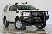 2017 Toyota Hilux GUN126R MY17 SR+ (4x4) White 6 Speed Manual Dual Cab Utility Burleigh Heads Gold Coast South Preview
