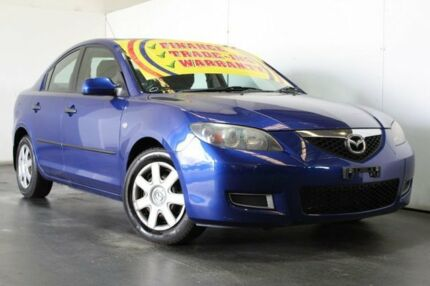 2006 Mazda 3 BK Neo Blue 5 Speed Manual Sedan Underwood Logan Area Preview