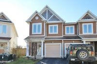 Kanata South House for Rent backing on Park, Pond & Path 3 beds