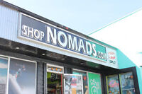 RETAIL SALESPERSON NEEDED AT NOMADS FOR CHRISTMAS SEASON