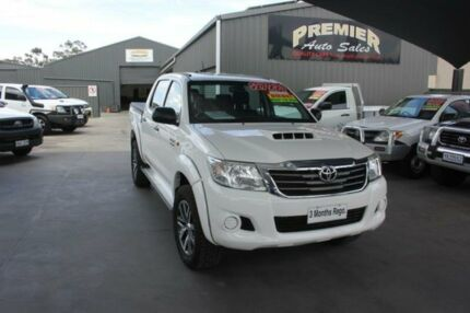 2014 Toyota Hilux KUN26R MY14 SR (4x4) White 5 Speed Automatic Dual Cab Pick-up Mitchell Gungahlin Area Preview