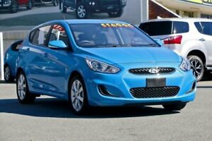 2018 Hyundai Accent RB6 MY18 Sport Blue Lagoon 6 Speed Sports Automatic Hatchback Cleveland Redland Area Preview