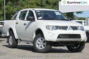 2013 Mitsubishi Triton MN MY13 GL-R Double Cab White 4 Speed Sports Automatic Utility Osborne Park Stirling Area Preview