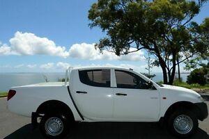 2009 Mitsubishi Triton ML MY09 GLX Double Cab White 5 Speed Manual Utility South Gladstone Gladstone City Preview