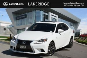 2016 Lexus IS 300 F Sport 2, AWD, Navigation, Leather / Roof / B