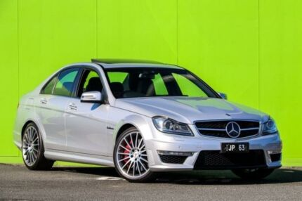 2012 Mercedes-Benz C63 W204 MY12 AMG SPEEDSHIFT MCT Performance Package Plus Silver 7 Speed