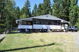 Beautiful double wide on just over 2 acres at 150 Mile House