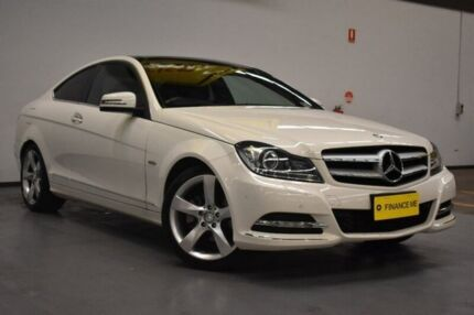 2012 Mercedes-Benz C250 C204 BlueEFFICIENCY 7G-Tronic + White 7 Speed Sports Automatic Coupe Brooklyn Brimbank Area Preview
