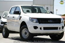 2014 Ford Ranger PX XL Double Cab White 6 Speed Sports Automatic Cab Chassis Upper Ferntree Gully Knox Area Preview