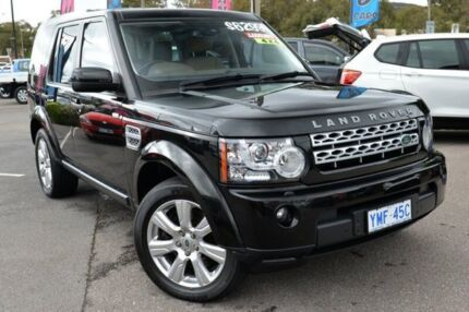2013 Land Rover Discovery 4 Series 4 L319 MY13 SDV6 HSE Santorini Black 8 Speed Sports Automatic