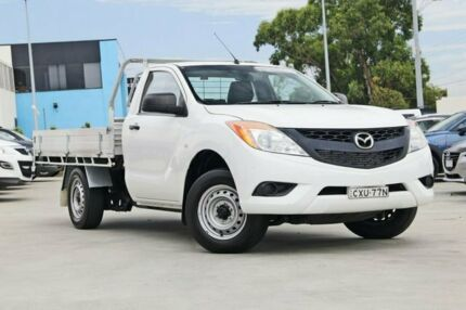 2015 Mazda BT-50 UP0YD1 XT 4x2 Cool White 6 Speed Manual Cab Chassis Kirrawee Sutherland Area Preview