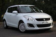 2014 Suzuki Swift FZ MY14 GL White 4 Speed Automatic Hatchback Hawthorn Mitcham Area Preview