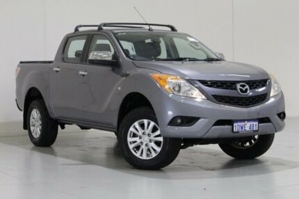 2012 Mazda BT-50 XTR (4x2) Grey 6 Speed Manual Dual Cab Utility Bentley Canning Area Preview