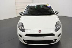 2013 Fiat Punto MY13 Lounge White 5 Speed Automated Manual Hatchback Moorabbin Kingston Area Preview
