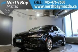 2016 Chrysler 200 S with Heated Seats, Bluetooth, Backup Camera