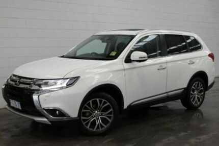 2017 Mitsubishi Outlander ZK MY17 Exceed 4WD White 6 Speed Sports Automatic Wagon Burnie Area Preview