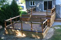 Decks and fences custom, availability.