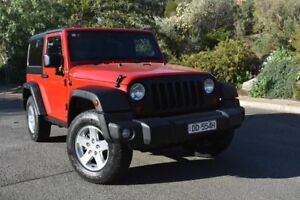 2011 Jeep Wrangler JK MY2010 Sport Red 6 Speed Manual Softtop St Marys Mitcham Area Preview