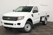 2013 Ford Ranger PX XL Cool White 6 Speed Manual Cab Chassis Seven Hills Blacktown Area Preview