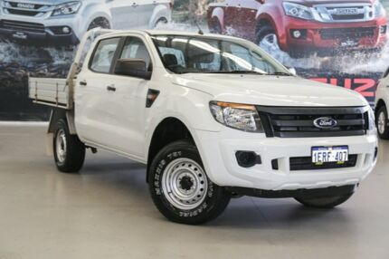 2014 Ford Ranger PX XL 2.2 HI-Rider (4x2) White 6 Speed Automatic Crew Cab Pickup Rockingham Rockingham Area Preview