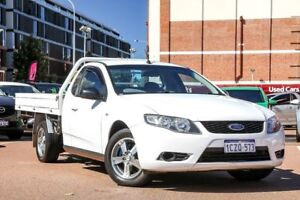 2008 Ford Falcon FG Super Cab White 5 Speed Automatic Cab Chassis