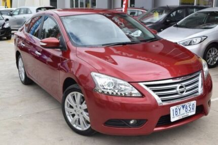 2014 Nissan Pulsar B17 TI Red 1 Speed Constant Variable Sedan Hoppers Crossing Wyndham Area Preview