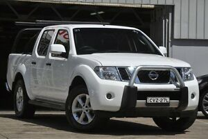 2014 Nissan Navara D40 MY12 ST (4x4) White 5 Speed Automatic Dual Cab Pick-up Mosman Mosman Area Preview