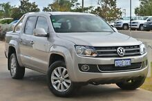 2012 Volkswagen Amarok 2H MY12 TDI400 4Mot Highline Sand Beige 6 Speed Manual Utility Mandurah Mandurah Area Preview
