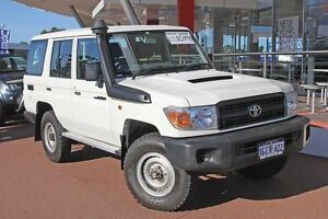 2016 Toyota Landcruiser VDJ76R Workmate French Vanilla 5 Speed Manual Wagon Myaree Melville Area Preview