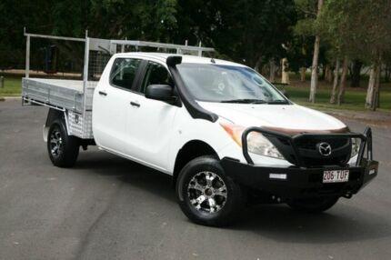2014 Mazda BT-50 UP0YF1 XT White 6 Speed Sports Automatic Utility Slacks Creek Logan Area Preview