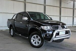 2011 Mitsubishi Triton MN MY12 GLX-R Double Cab Black 5 Speed Manual Utility Derwent Park Glenorchy Area Preview