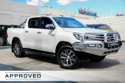 2016 Toyota Hilux GUN126R SR5 Double Cab Crystal White 6 Speed Sports Automatic Utility