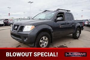 2012 Nissan Frontier 4X4 CREWCAB PRO-4X Leather,  Heated Seats,